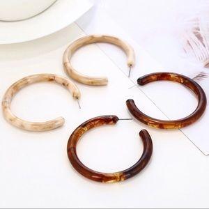 Jewelry - 2 pr/$20  Tortoise Shell Acrylic Earrings